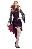 BFJFY Women's Halloween Vampire Countess Cosplay Dress Witch Bat Vampire Costume - bfjcosplayer
