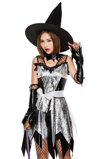 BFJFY Women's Halloween Witch Wizard Cosplay Dress Female Magician Costume - bfjcosplayer
