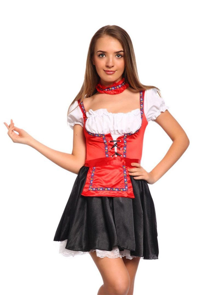 BFJFY Women Sexy Bar Maid Beer Girl Oktoberfest Festival Halloween Costume - bfjcosplayer