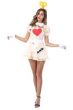 BFJFY Halloween Women's Anime Maid Love Heart Pattern Cosplay Costumes - bfjcosplayer