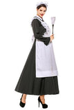 BFJFY Women's French Apron Maid Fancy Dress Manor Maid Halloween Uniform - bfjcosplayer