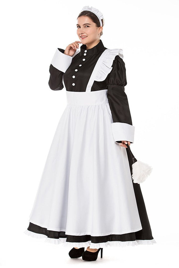 BFJFY British Style Maid Dress Costume Halloween Cosplay For Females Women - bfjcosplayer
