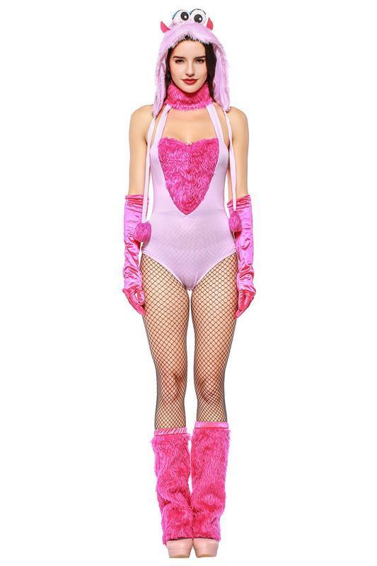 BFJFY Women Pink Animal Monster Cosplay Costume Outfit For Halloween - bfjcosplayer