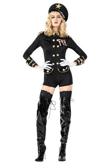 BFJFY Adult Women Police Officer Costume Halloween Cosplay - bfjcosplayer