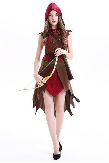 BFJFY Halloween Pirate Cosplay Costume Robin Hooded Outfit For Women - bfjcosplayer