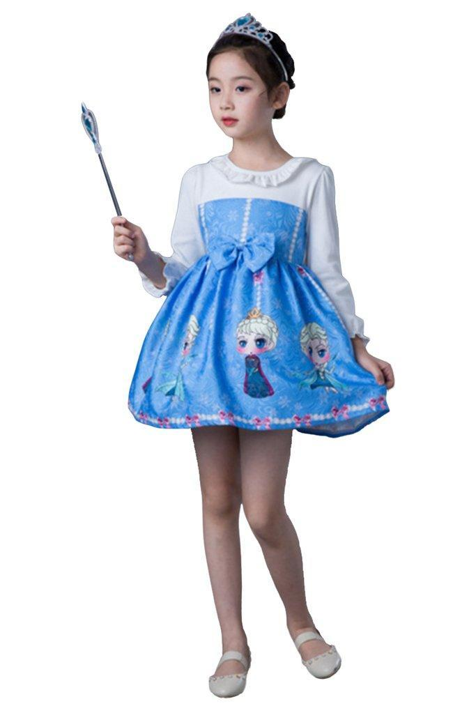 BFJFY Halloween Girl's Princess Dress Disney Frozen Princess Sophia Pattern Cosplay - bfjcosplayer