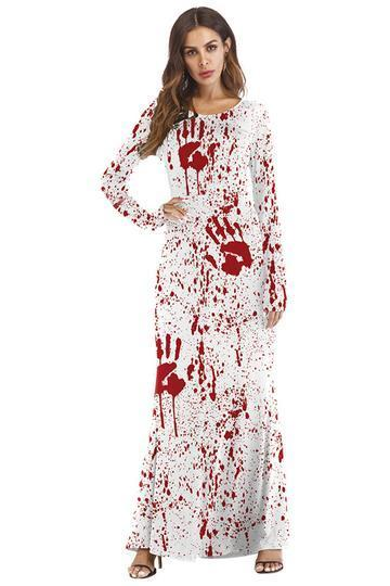 BFJFY Women's Halloween Scary Bloody Dress Dead Cosplay Costume - bfjcosplayer