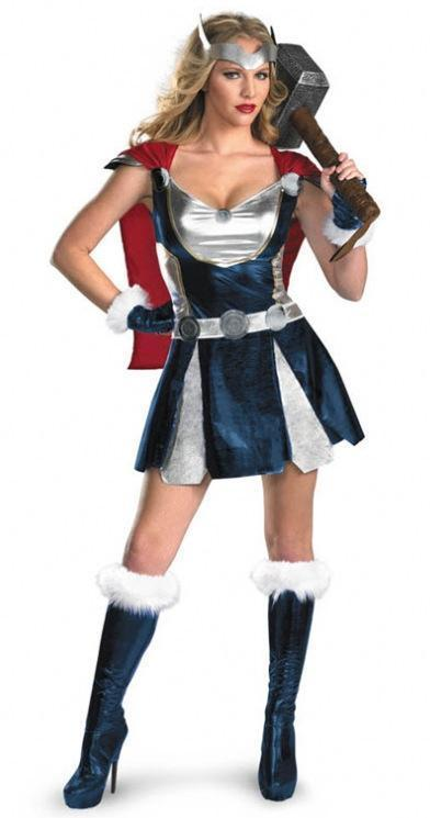 BFJFY Women Halloween Superhero Female Thor Cosplay Dress Outfit - bfjcosplayer