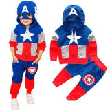 BFJFY Boys Halloween Costume Superhero Captain America Cospay Outfit - bfjcosplayer