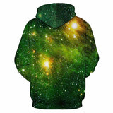 BFJmz Green Starry Sky3D Printing Coat  Zipper Coat Leisure Sports Sweater Autumn And Winter - bfjcosplayer