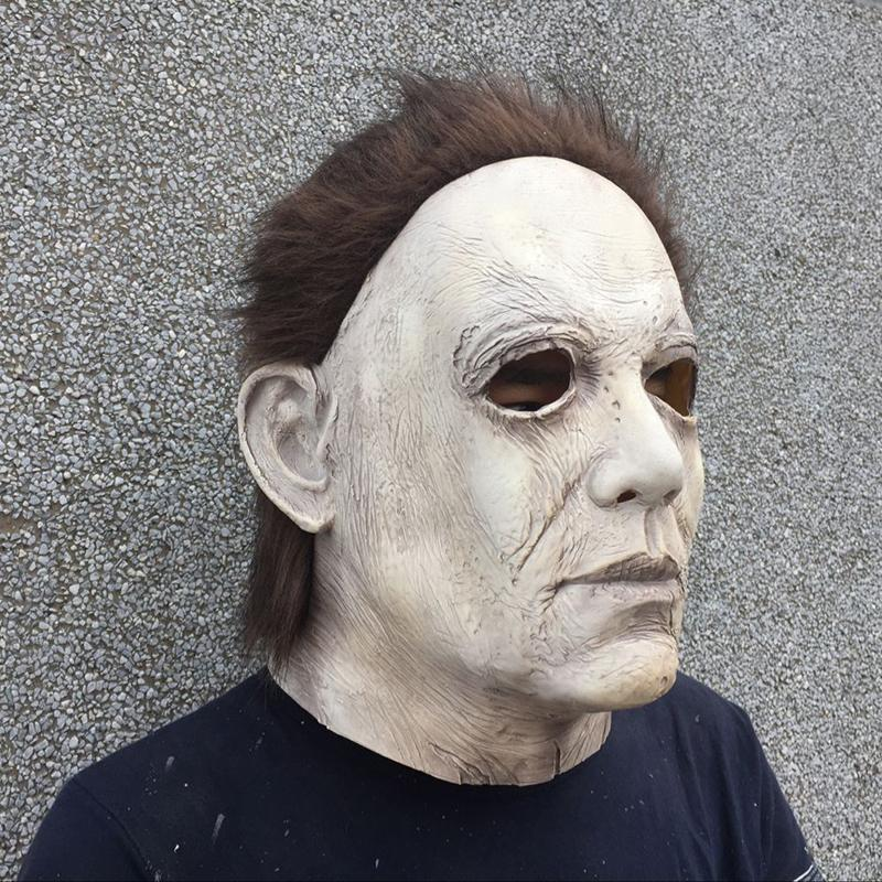 2018 Halloween Mask Cosplay Michael Myers Mask Scary Horror Halloween Party Mask - bfjcosplayer