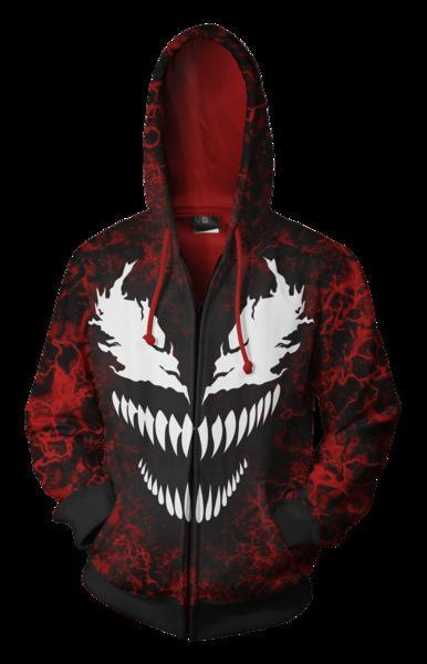 BFJmz Marvel Venom Spiderman 3D Printing Coat Zipper Coat Leisure Sports Sweater Autumn And Winter - bfjcosplayer