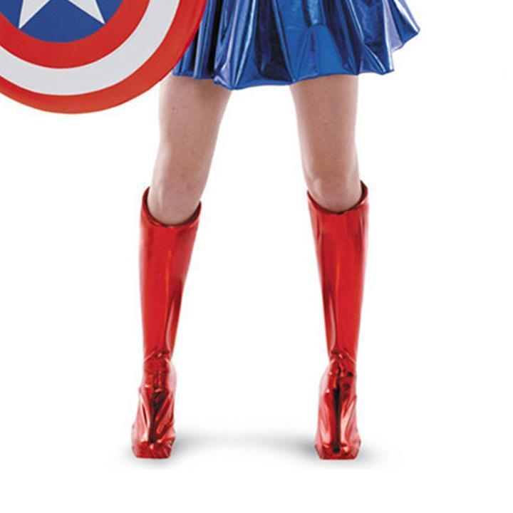 BFJFY Halloween Women Superhero Female Captain American Cosplay Outfit - bfjcosplayer