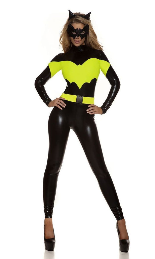 BFJFY Women's Superhero Cosplay Lady Batman Costume Jumpsuit - bfjcosplayer