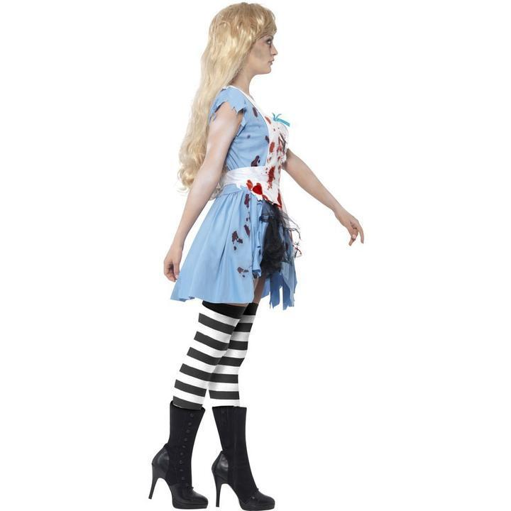 BFJFY Women Halloween Bloodstained Zombie Bloody Maid Costume - bfjcosplayer
