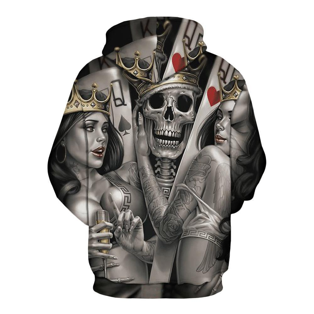 BFJmz Skull Knight 3D Printing Coat Leisure Sports Sweater Autumn And Winter - bfjcosplayer