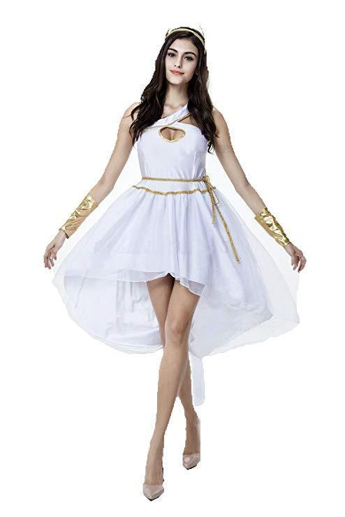 BFJFY Women's Halloween Greek Goddess Costumes Princess Cosplay Fancy Dress - bfjcosplayer