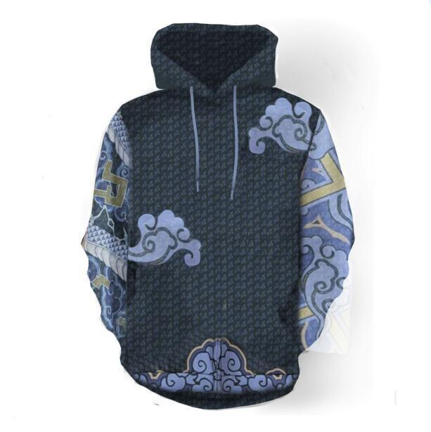 BFJmz OW Over Watch Miyamoto Musashi Printing Coat Leisure Sports Sweater Autumn And Winter - bfjcosplayer