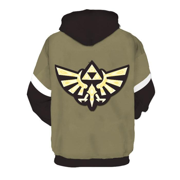 BFJmz The Legend of Zelda 3D Printing Coat  Zipper Coat Leisure Sports Sweater Autumn And Winter - bfjcosplayer