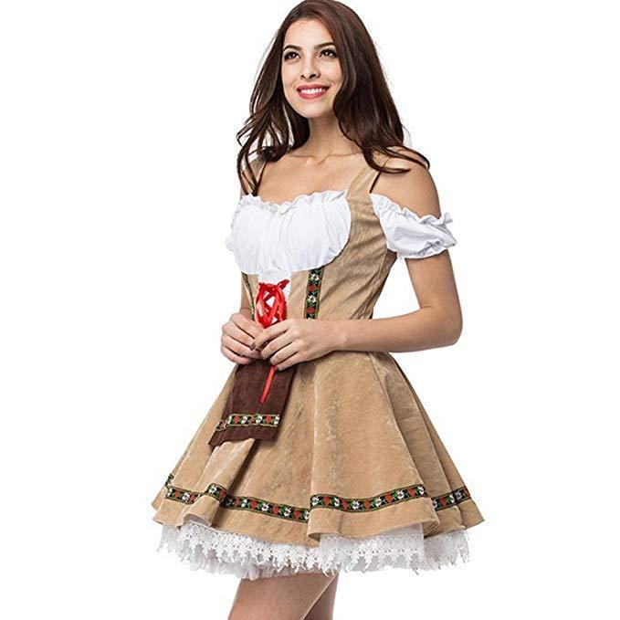 BFJFY Halloween Women's Beer Girl Costume Oktoberfest Maid Costumes - bfjcosplayer
