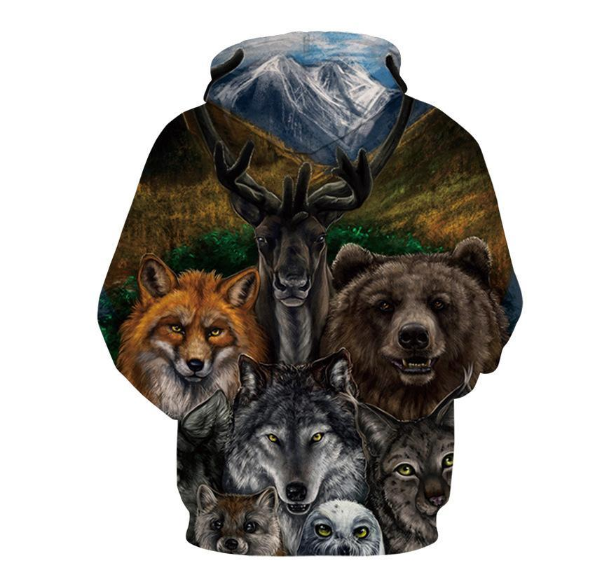 BFJmz Animal World Occident Style 3D Printing Coat  Zipper Coat Leisure Sports Sweater Autumn And Winter - bfjcosplayer