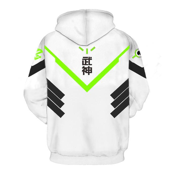 BFJmz OW Over Watch Genji 3D Printing Coat Leisure Sports Sweater  Autumn And Winter - bfjcosplayer