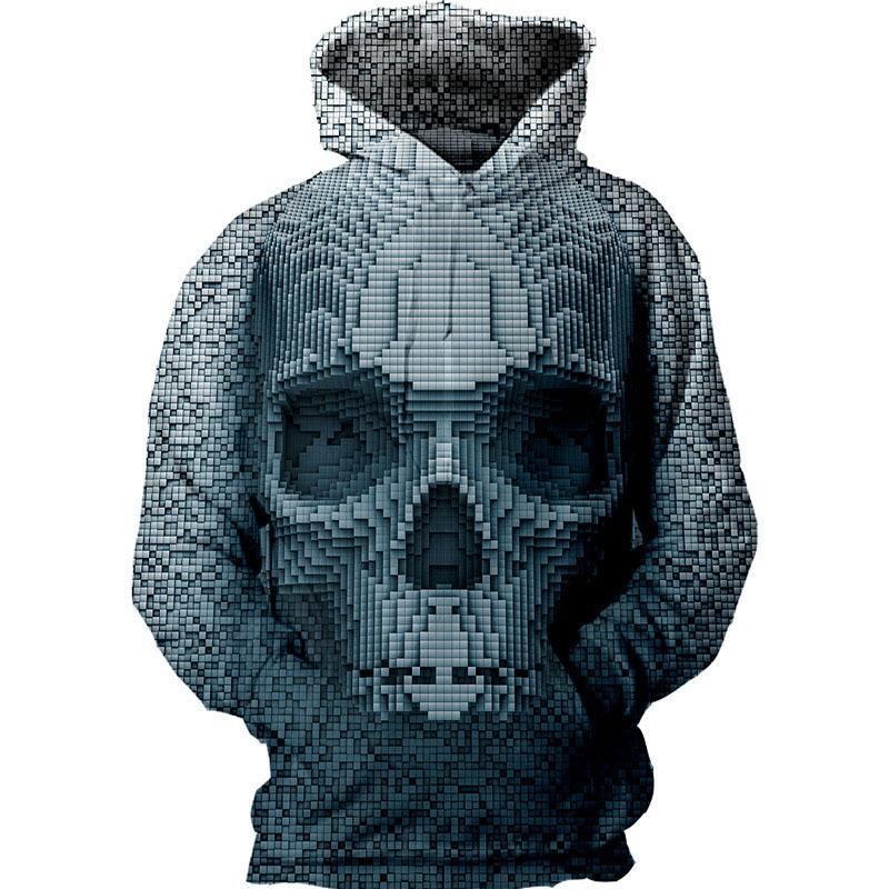 BFJmz Skull 3D Printing Coat Zipper Coat Leisure Sports Sweater  Autumn And Winter - bfjcosplayer
