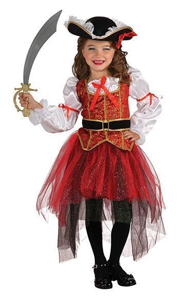 BFJFY Girls Female Pirate Princess Dress Halloween Cosplay Costumes - bfjcosplayer