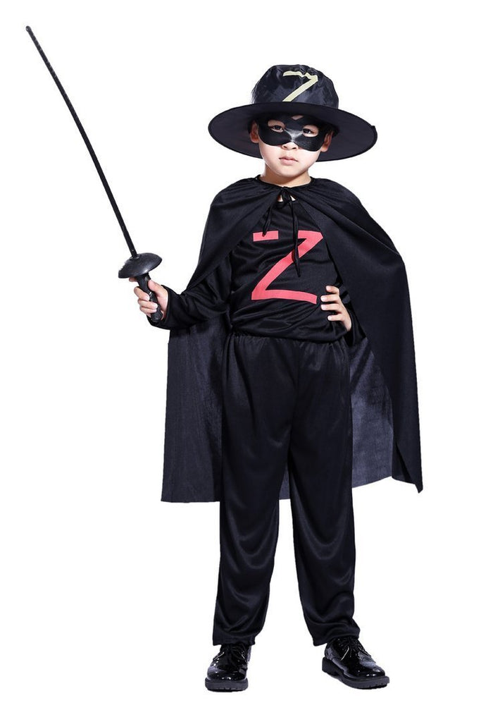 BFJFY Halloween Superhero Movies The Mask Of Zorro Boys Cosplay Costume - bfjcosplayer