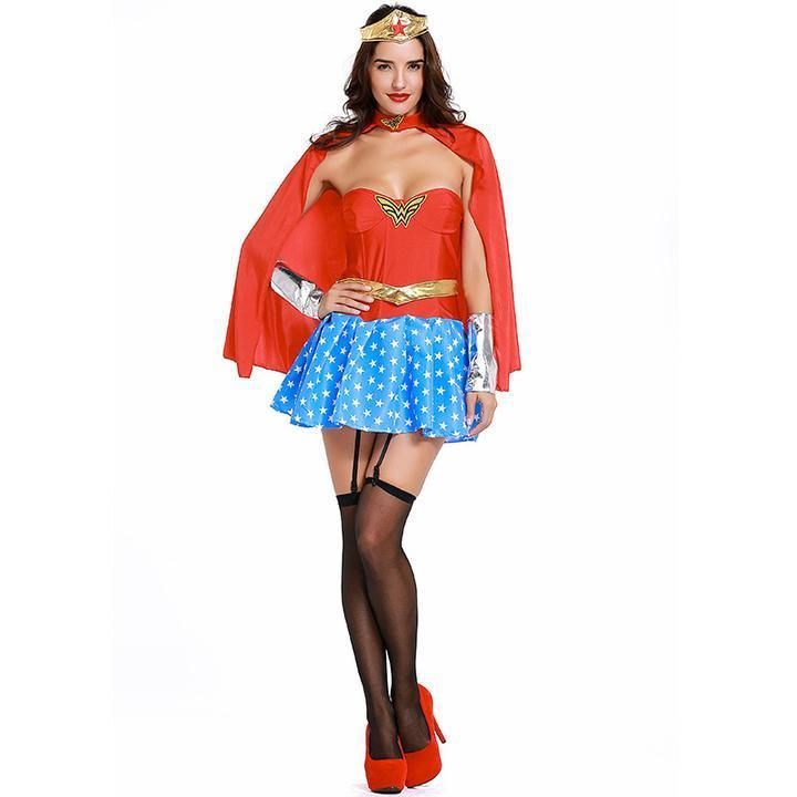 BFJFY Women's Dc Comics Wonder Woman Corset Superhero Costume - bfjcosplayer