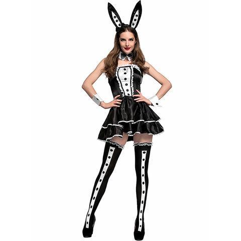 BFJFY Women Dapper Tuxedo Style Bunny Club Wear Halloween Costume - bfjcosplayer
