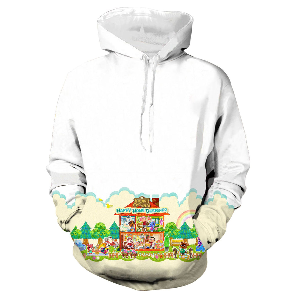 Animal Crossing Cosplay No Zipper Hoodie Halloween Costume