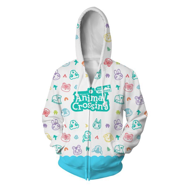 Animal Crossing Cosplay Zipper Hoodie Halloween Costume