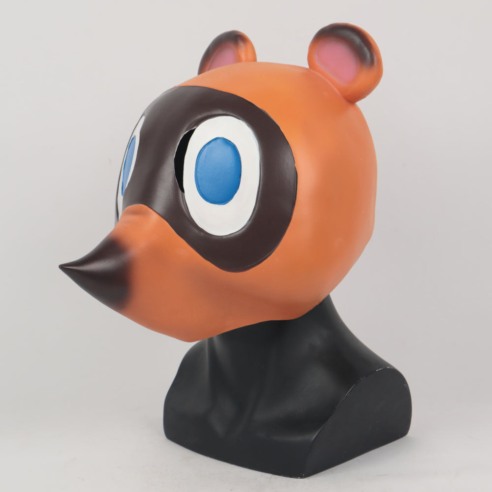 Animal Crossing Tom Nook cosplay Latex Helmet Halloween prop