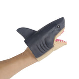 Animal Wildlife Shark Hand Puppet Soft Kids Children Toy Fish Pet Head Gloves Funny Toy Cosplay Accessories Prop