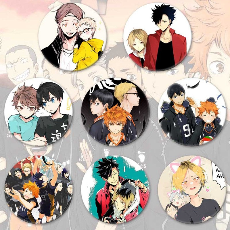 Haikyuu!! enamel pin Volleyball Boy Tsukishima Firefly Cosplay Bedge Halloween Props