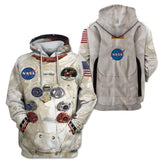 Armstrong Astronaut Space Suit Cosplay Hoodie Halloween Costume