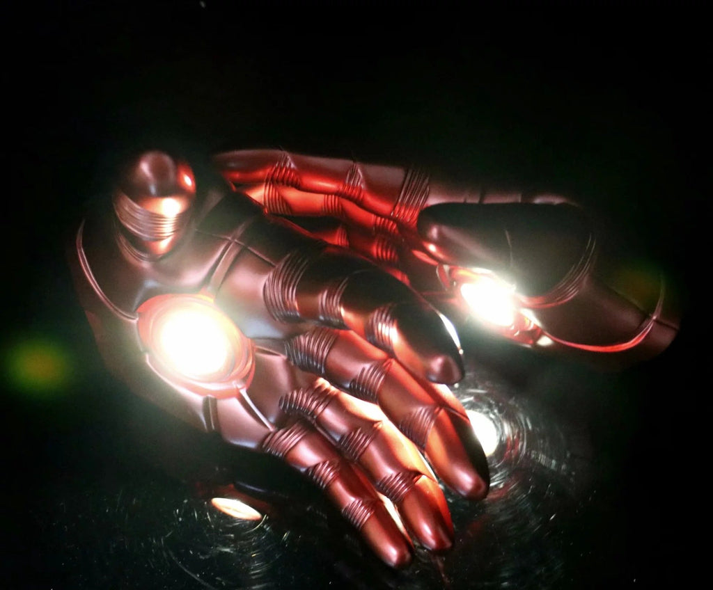Avengers 4 Iron Man Gloves Palms gleamy Teen Cosplay Props - bfjcosplayer