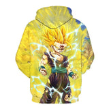 BFJmz Dragon Ball Sun Wukong Hooded Sweater 3D Printing Coat Leisure Sports Sweater Autumn And Winter - bfjcosplayer