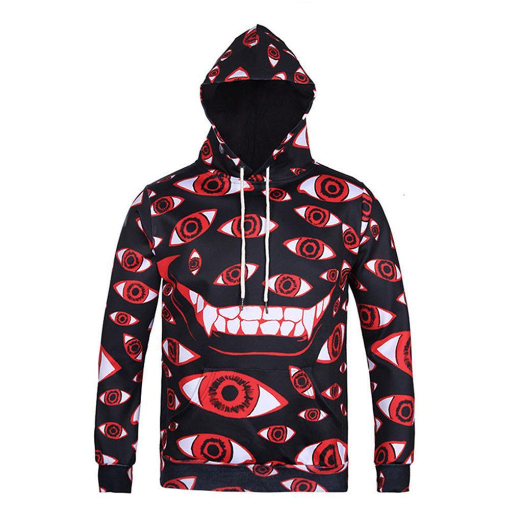 BFJmz Intensive Big Eyes 3D Printing Coat Zipper Coat Leisure Sports Sweater  Autumn And Winter - bfjcosplayer