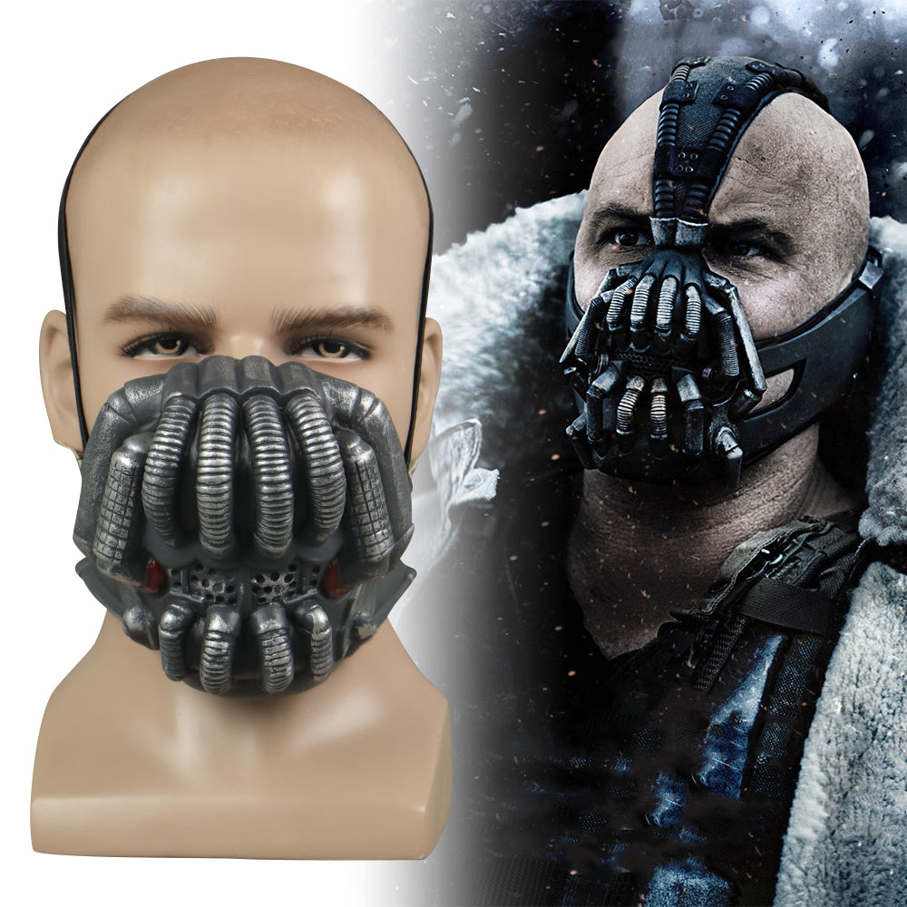 Batman Bane Cosplay Half Face Latex Helmet Halloween Prop
