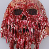 Blood Color Skull Skeleton Cosplay Mask Latex Full Head Zombie Scary Horrible Helmet Party Halloween Fancy Dress - bfjcosplayer