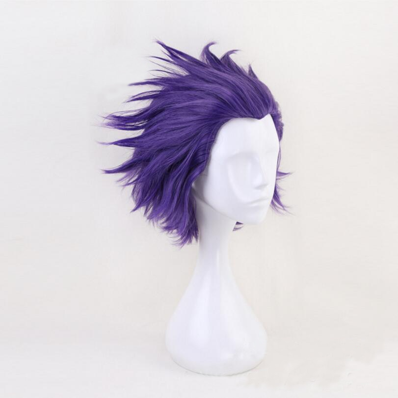 Boku no Hero Academia Shinsou Hitoshi Wig Cosplay Costume My Hero Academia Men Women Short Purple Hair Halloween Wigs