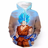 BFJmz Dragon Ball God Super Saiyan 3D Printing Coat Leisure Sports Sweater Couple Sweater Autumn And Winter - bfjcosplayer