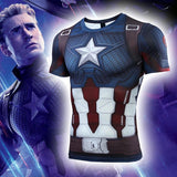 Avengers 4: endgame Captain America Clothes Marvel Long/Short Sleeve T-Shirt Tights - bfjcosplayer