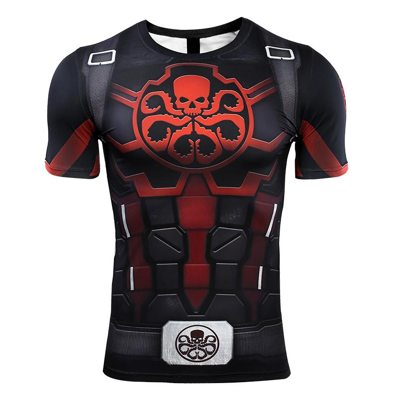 Avengers 4: endgame Captain America T-shirt Marvel Hydra Cosplay costume long sleeves quick-drying clothes - bfjcosplayer