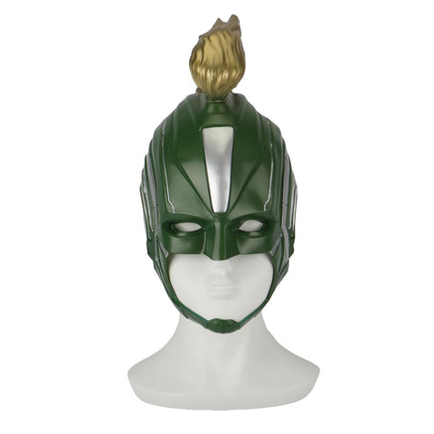 2019 Captain Marvel Mask Superhero Women Carol Danvers Halloween Helmet Soft PVC - bfjcosplayer
