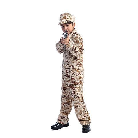 BFJFY Boys Camo Military Uniform Halloween Cosplay Costume - bfjcosplayer