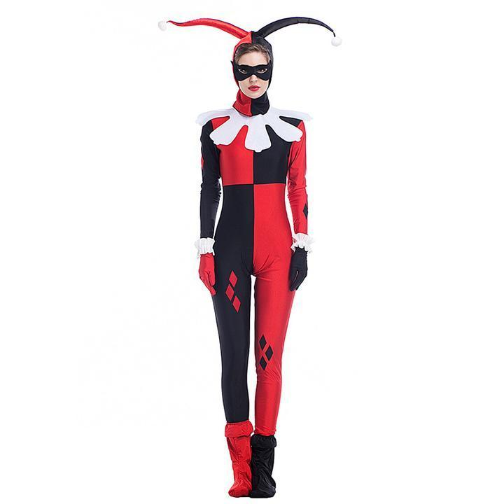 BFJFY Women Suicide Squad Harley Quinn Clown Cosplay Costume For Halloween - bfjcosplayer