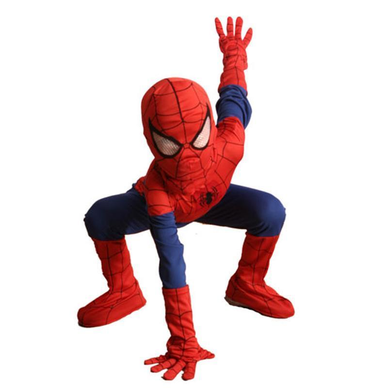 BFJFY Complete Child Boy Spider Man Halloween Superhero Costume - bfjcosplayer